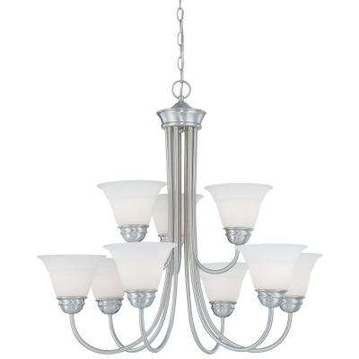 Bella 9-Light Brushed Nickel Chandelier