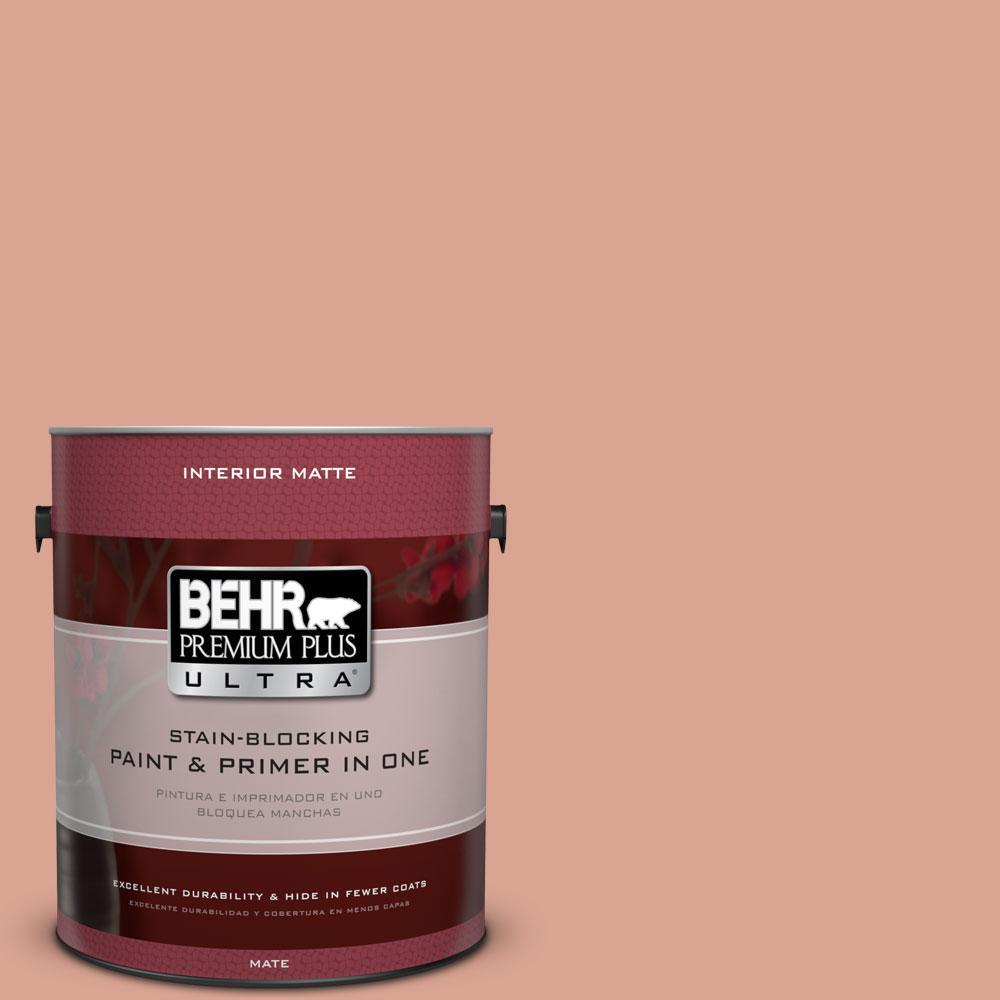 BEHR Premium Plus Ultra Home Decorators Collection 1 gal. #HDC-CT-13 Apricotta Flat/Matte Interior Paint