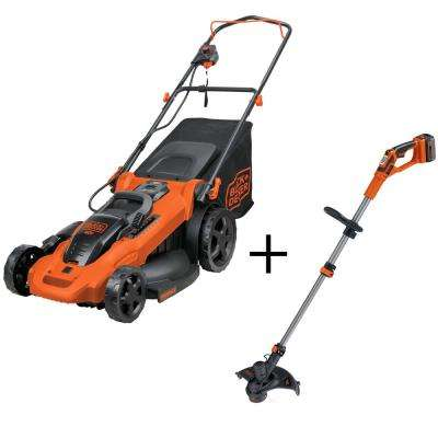20 in. 40-Volt Max Lithium Ion Cordless Electric Walk Behind Push Mower with Bonus String Grass Trimmer/Lawn Edger