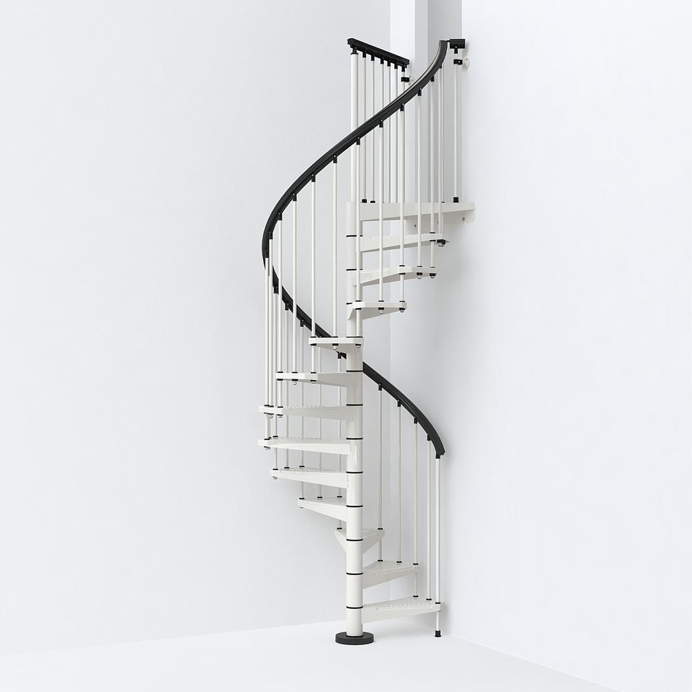 SKY030 47 in. White Spiral Staircase Kit