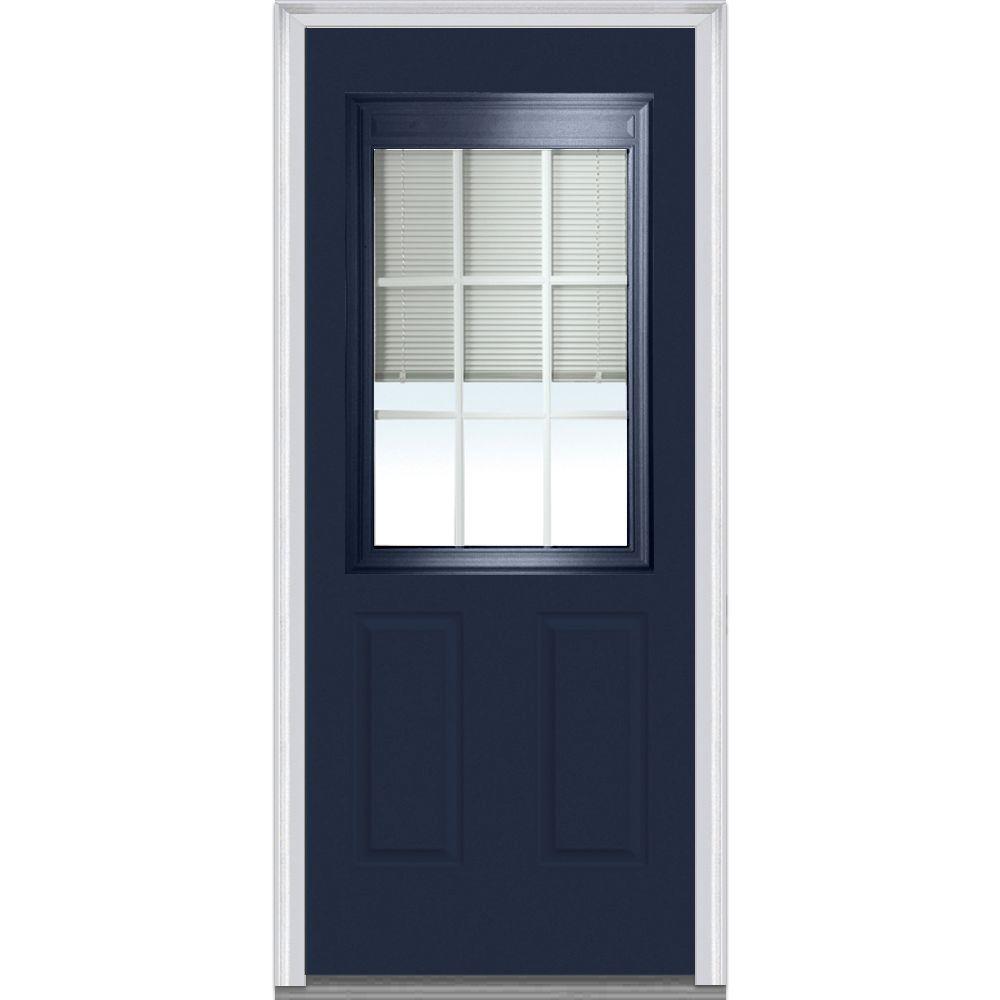 MMI Door 36 in. x 80 in. Internal Blinds and Grilles Left...