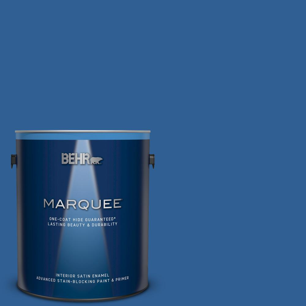 BEHR MARQUEE 1 gal. #S-G-580 Running Water Satin Enamel Interior Paint and Primer in One