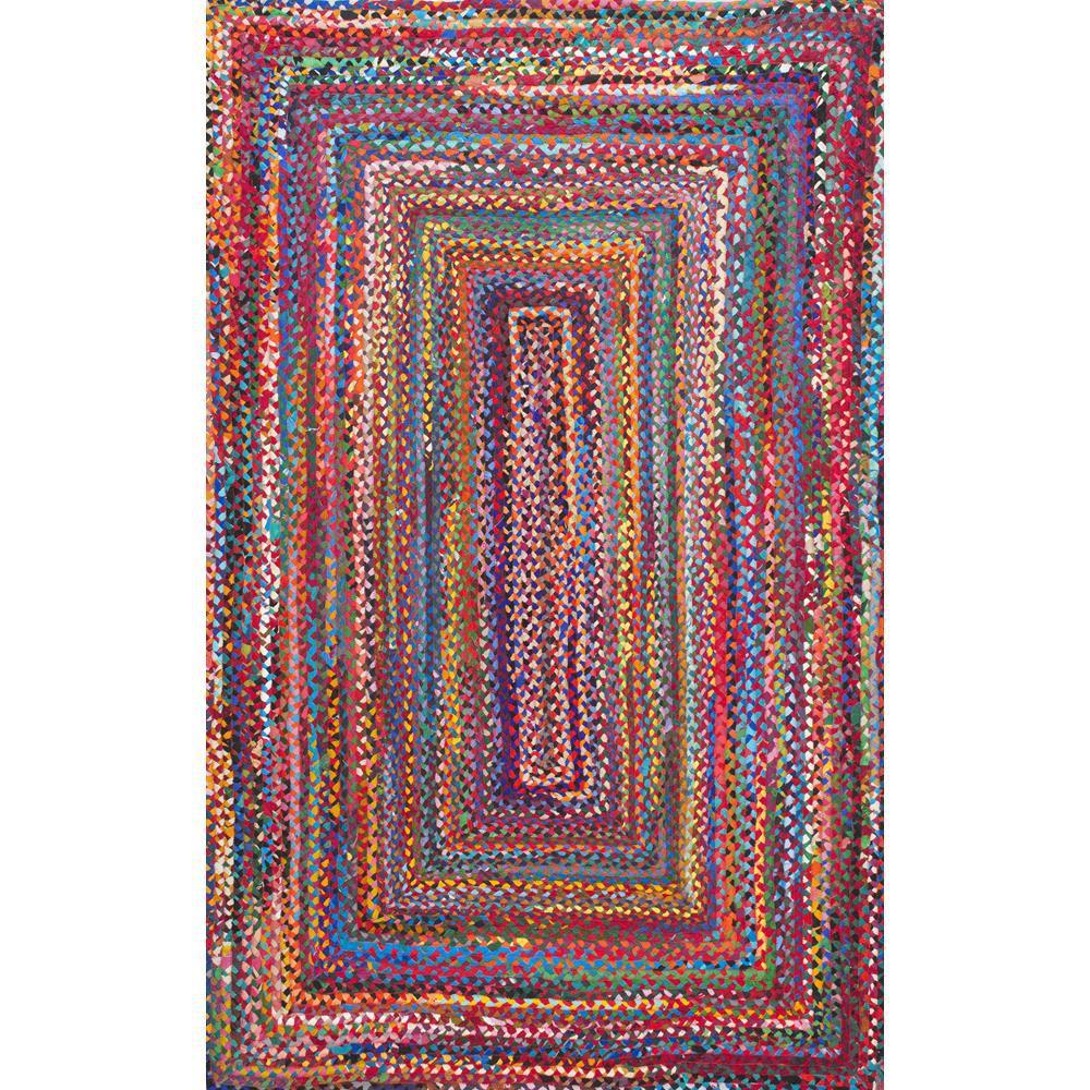 Tammara Colorful Braided Multi 5 ft. x 8 ft. Area Rug