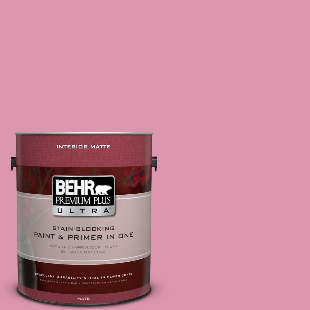 1 gal. #110B-4 Foxy Pink Flat/Matte Interior Paint