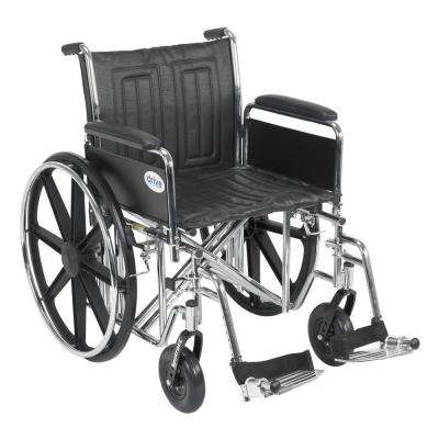 Sentra EC Heavy Duty Wheelchair with Full Arms, Swing Away Footrest and 20 in. Seat