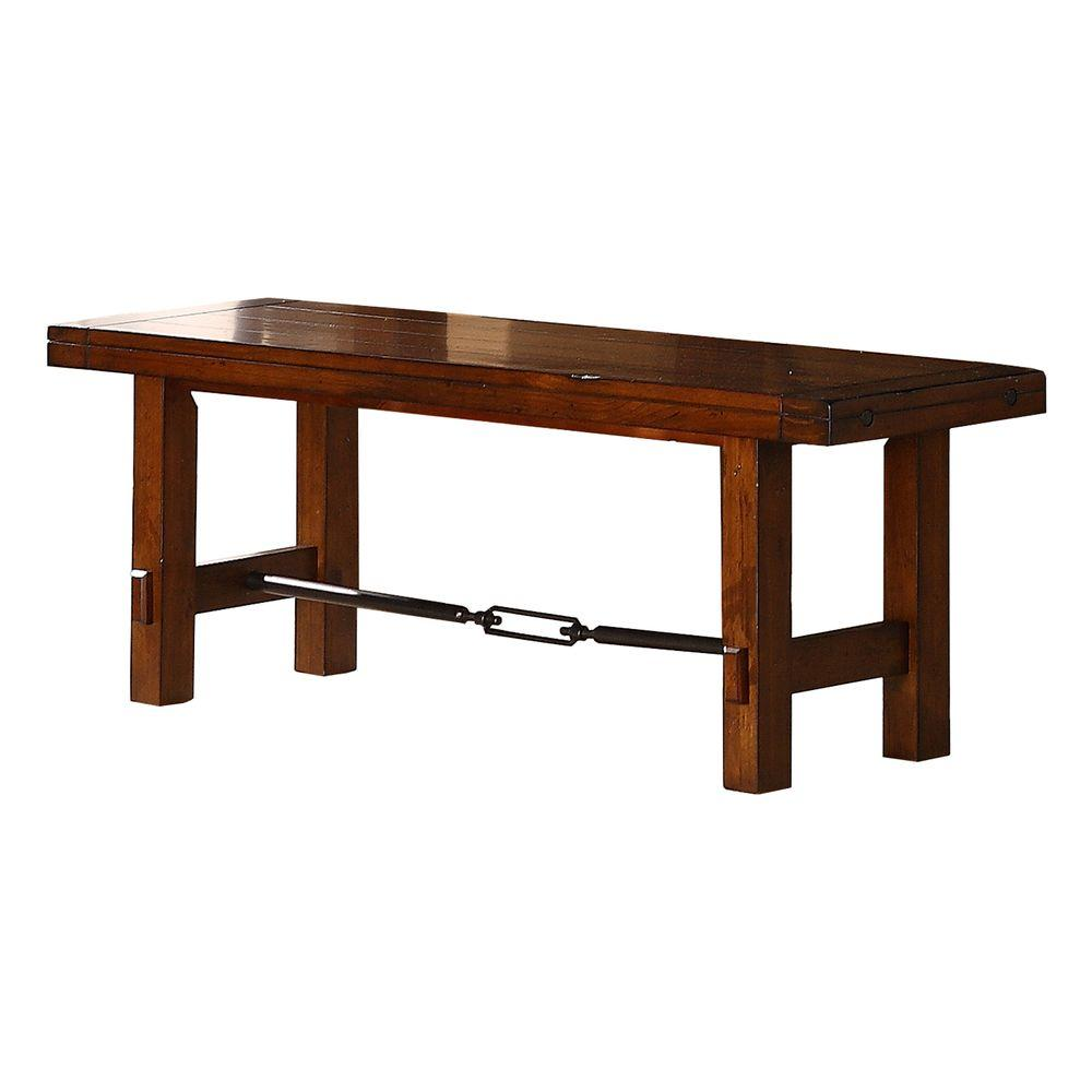 Homesullivan Honea Vintage Oak Bench 402515 13 The Home Depot