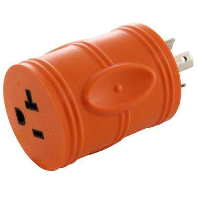 Locking Adapter NEMA L5-20P 20Amp 125Volt 3Prong Locking Plug to 5-15/20R Regular Household 15/20Amp T Blade Socket
