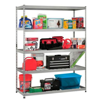 78 in. H x 60 in. W x 24 in. D 5 Shelf Steel Unit