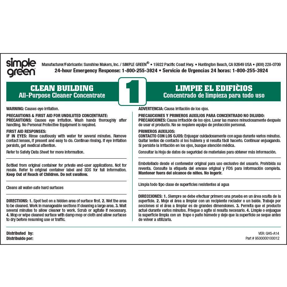 Simple Green Clean Building All Purpose Cleaner Secondary