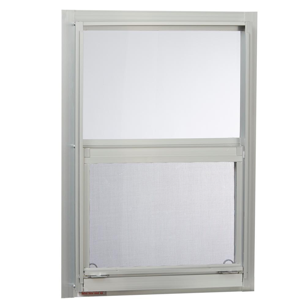Tafco Windows 30 In X 54 In Mobile Home Single Hung Aluminum Window In White