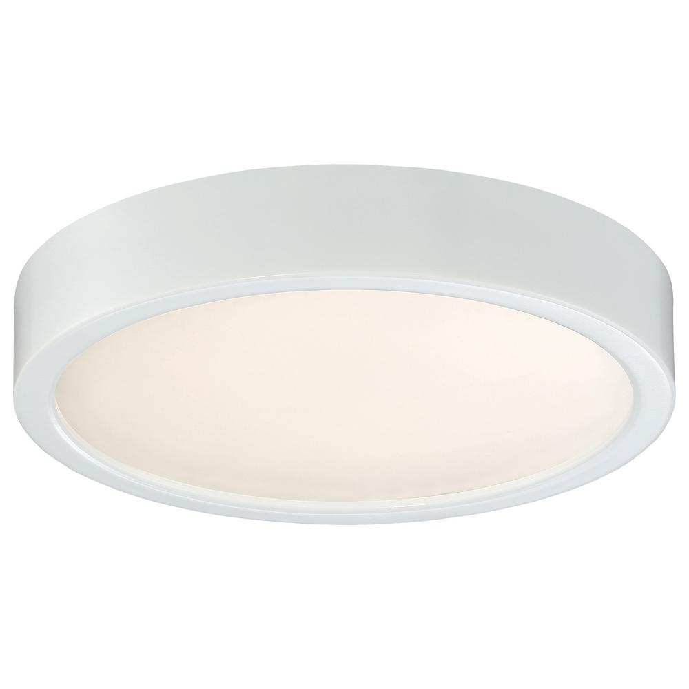 60-Watt Equivalent White Integrated LED Flushmount