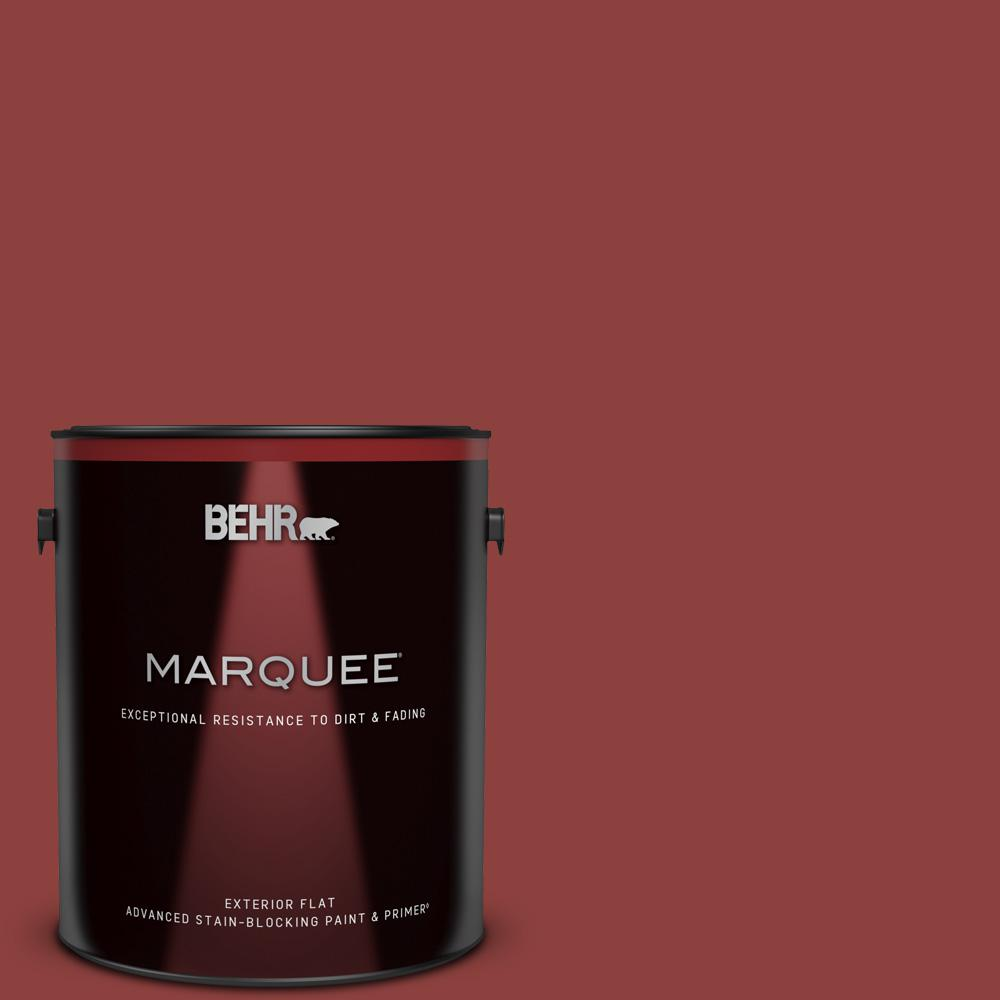 Behr Marquee 1 Gal Bxc 27 Carriage Red Flat Exterior Paint And Primer In One 445301 The Home Depot