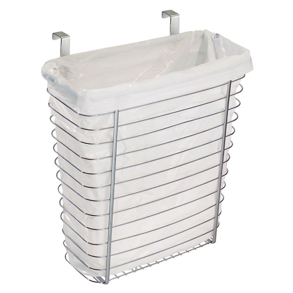 InterDesign Chrome Axis OTC Waste/Storage Basket