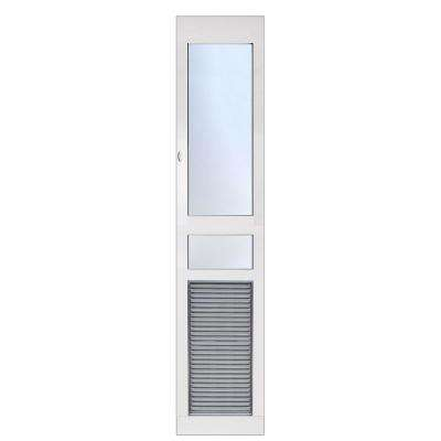 6.38 in. x 13.5 in. Weather and Energy Efficient Pet Door with Magnetic Closure for Extra Tall Height Patio Doors