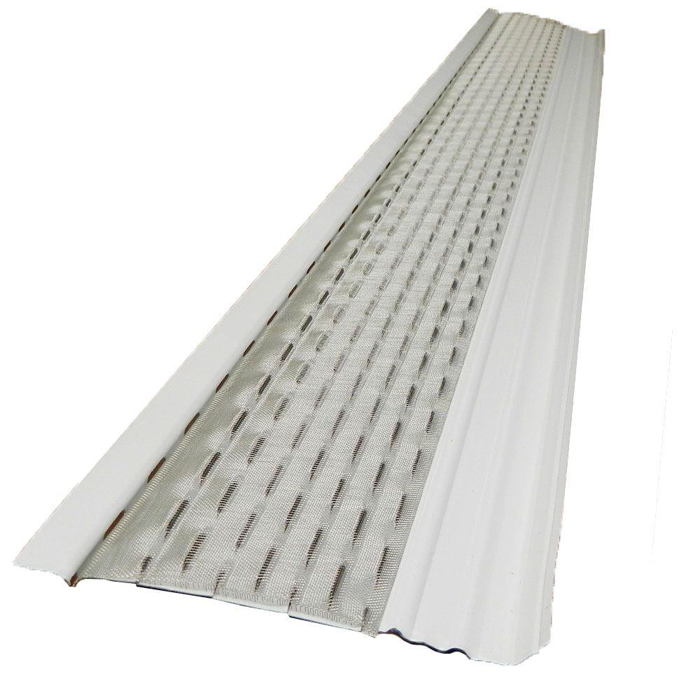 Gibraltar Building Products 4 ft. x 5 in Clean Mesh White Aluminum Gutter Guard (25-per Carton)