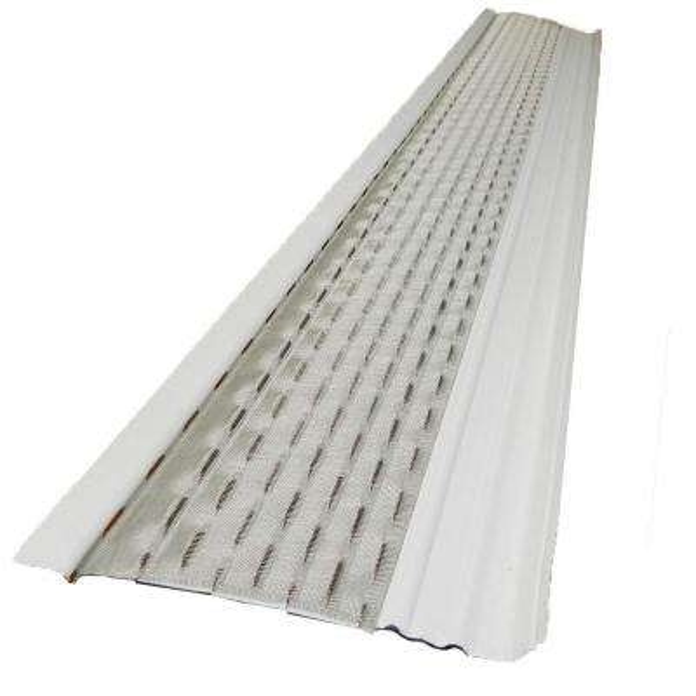 4 ft. x 5 in Clean Mesh White Aluminum Gutter Guard (25-per Carton)