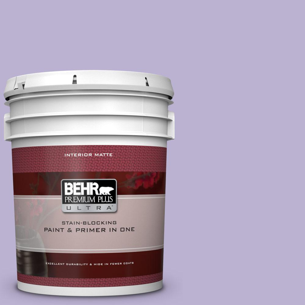 BEHR Premium Plus Ultra 5 gal. #M560-3 Grape Hyacinth Mat...