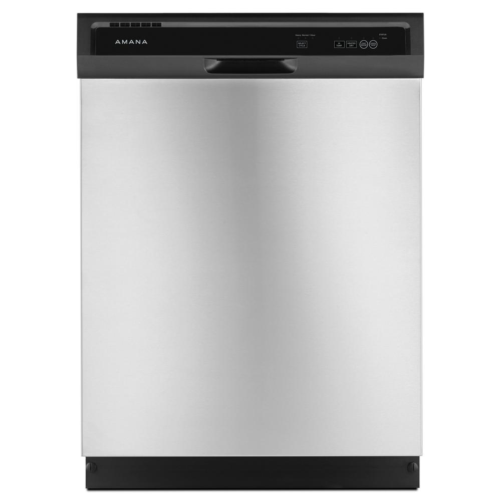 Front Control Built-In Tall Tub Dishwasher in Stainless Steel with Triple