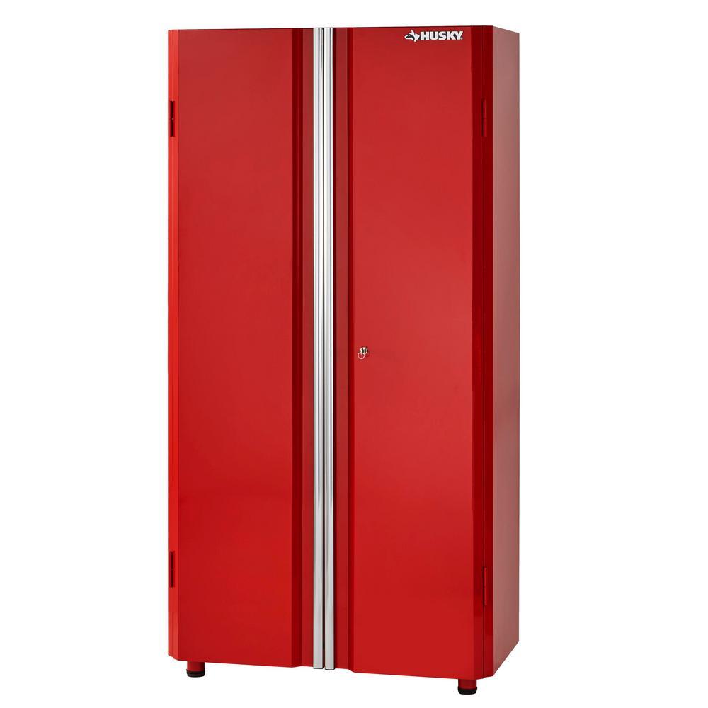 36 in. W x 72 in. H x 18 in. D Steel Tall Garage Cabinet in Red