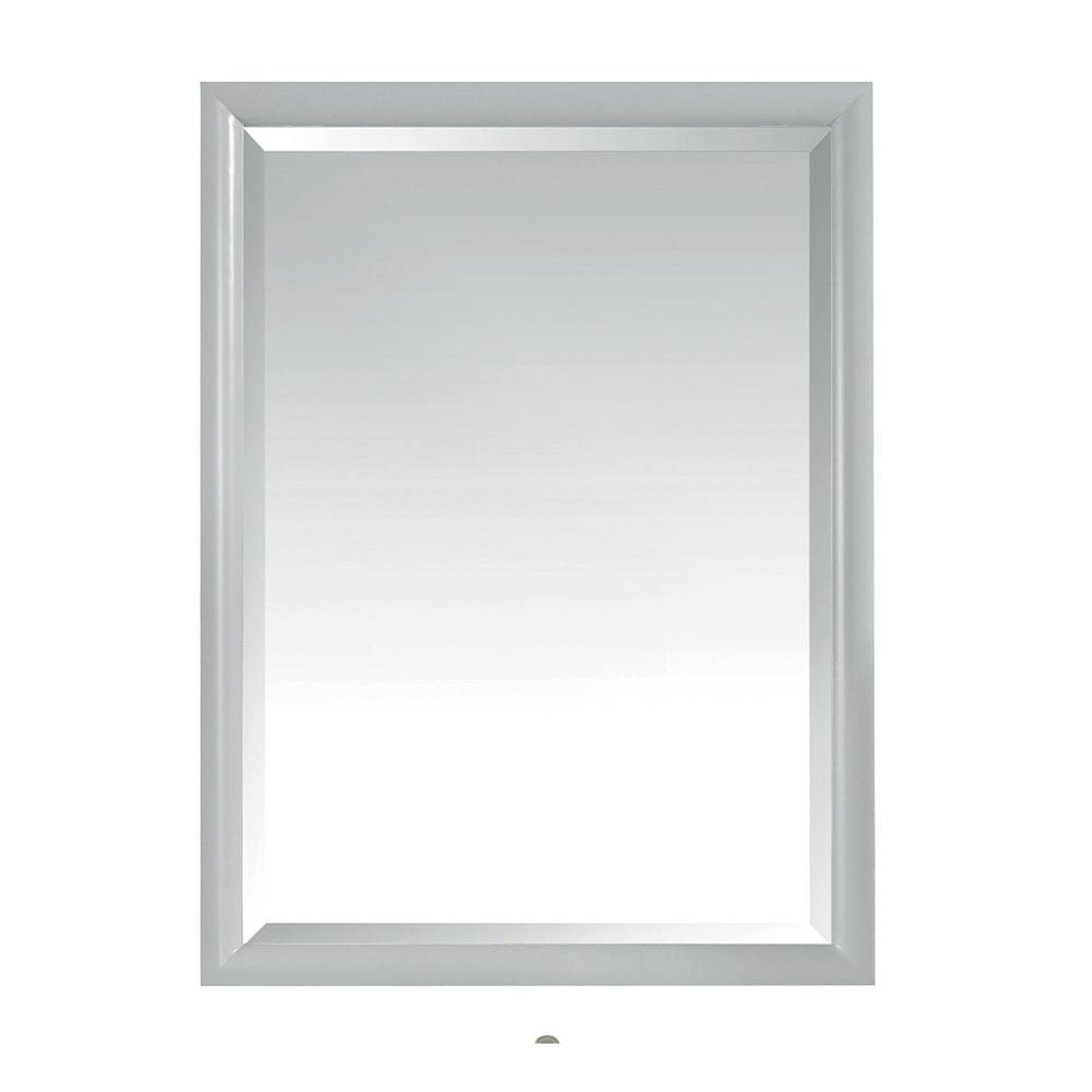 Avanity Emma 24 in. x 32 in. Framed Wall Mirror in Dove Gray