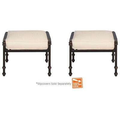 Niles Park Patio Ottomans With Cushion Insert (2 Pack) (Slipcovers Sold  Separately
