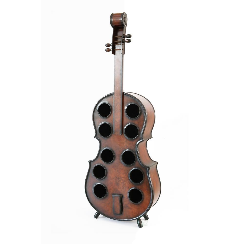 Bottle Wooden Cello Shaped Wine Rack