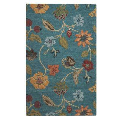 Portico Peacock 10 ft. x 14 ft. Area Rug