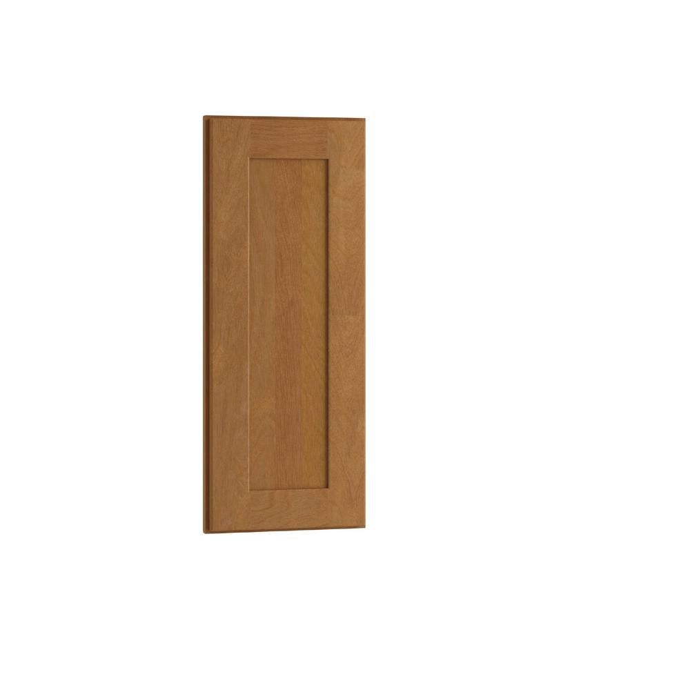 Home Decorators Collection 12x30x.75 in. Hargrove Assembled Matching Wall End Panel in Cinnamon