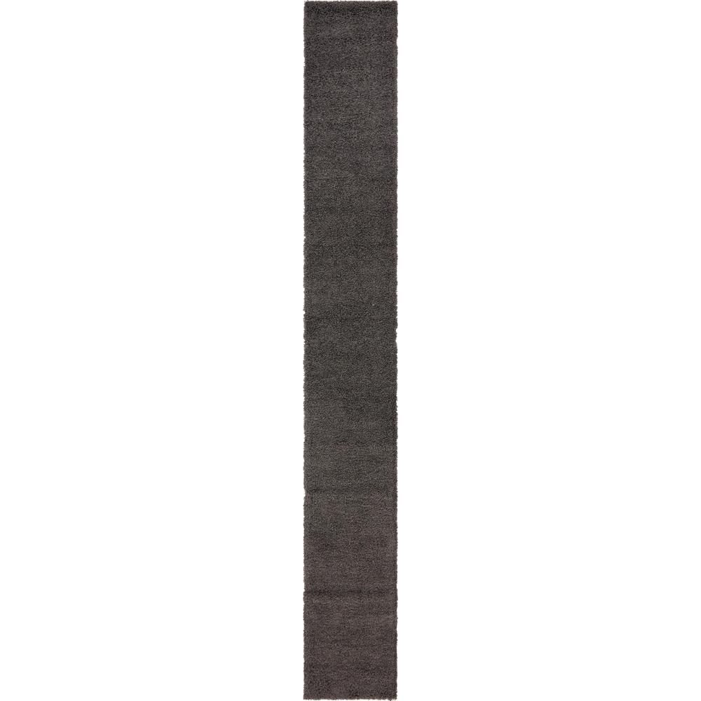 Solid Shag Graphite Gray 20 ft. Runner Rug