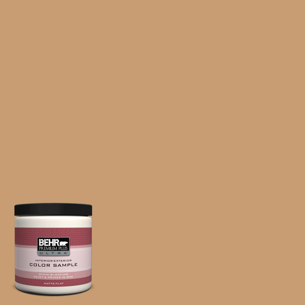 8 oz. #S270-5 Gingersnap Matte Interior/Exterior Paint and Primer in One
