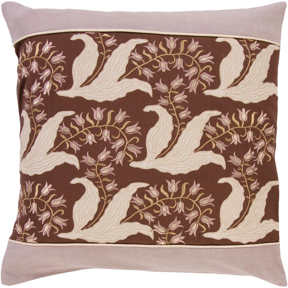 Artistic Weavers FloraF 18 in. x 18 in. Decorative Down Pillow-FloraF-1818D - The Home Depot