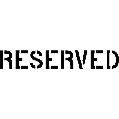 8 in. Reserved Stencil
