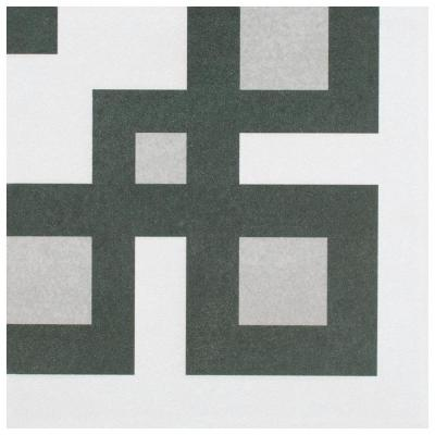 "Twenties Corner 7-3/4""x7-3/4"" Ceramic F/W Tile"