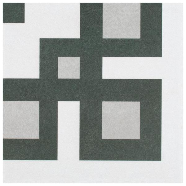 Twenties Corner 7-3/4''x7-3/4'' Ceramic F/W Tile