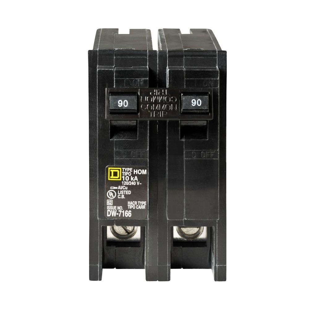 Square D Homeline 90 Amp 2 Pole Circuit Breaker HOM290CP