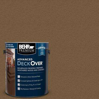 1 gal. #SC-109 Wrangler Brown Textured Solid Color Exterior Wood and Concrete Coating