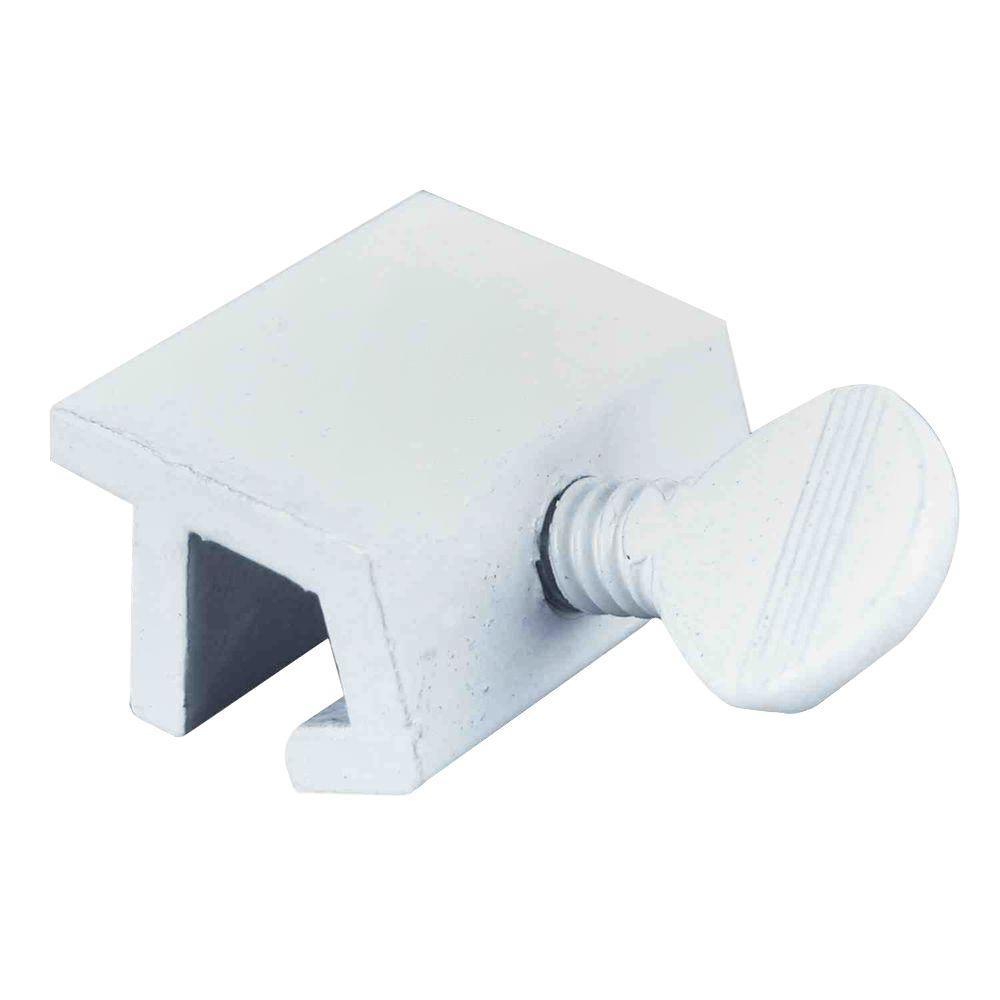 Aluminum White Sliding Window Lock with Thumbscrew