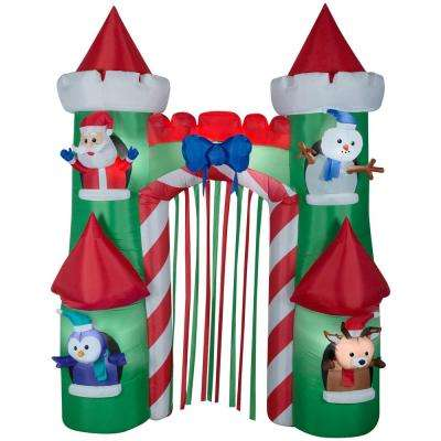 108 in. Inflatable Holiday Castle Gate