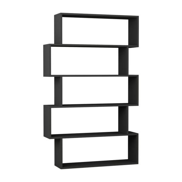 Ada Home Decor Barclay Anthracite Modern Bookcase DCRB2117