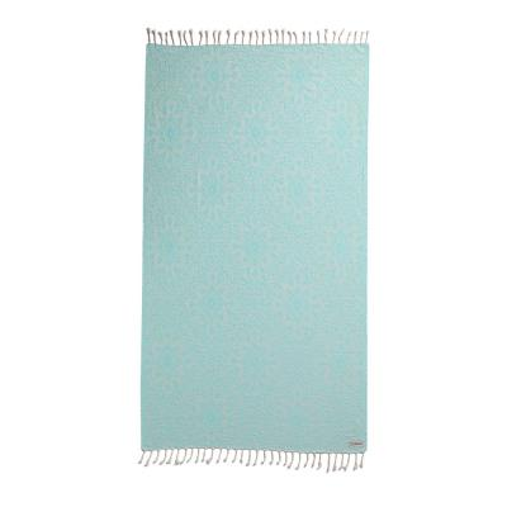 Turkish Aqua Cotton Beach Towel