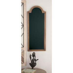 New Traditional Arched Brown Wooden Chalkboard by