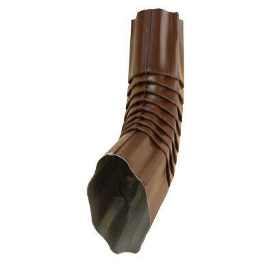 4 in. Royal Brown Half-Round Corrugated 75 Degree Elbow
