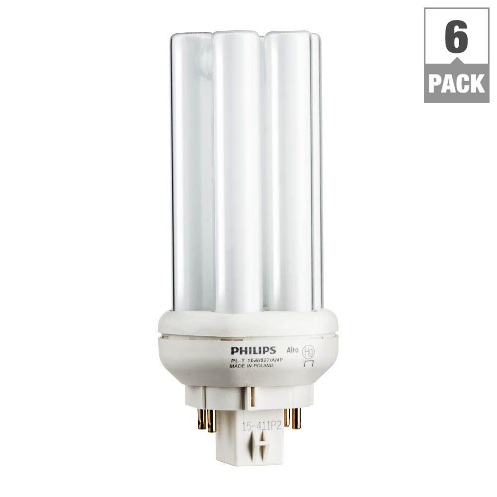 Philips 18 Watt Gx24q 2 Pl T Cfl Amalgam Compact Quad Tube