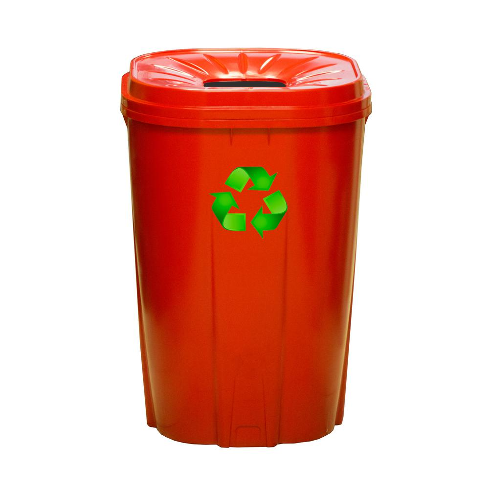 55 Gal. Red Recycling Bin