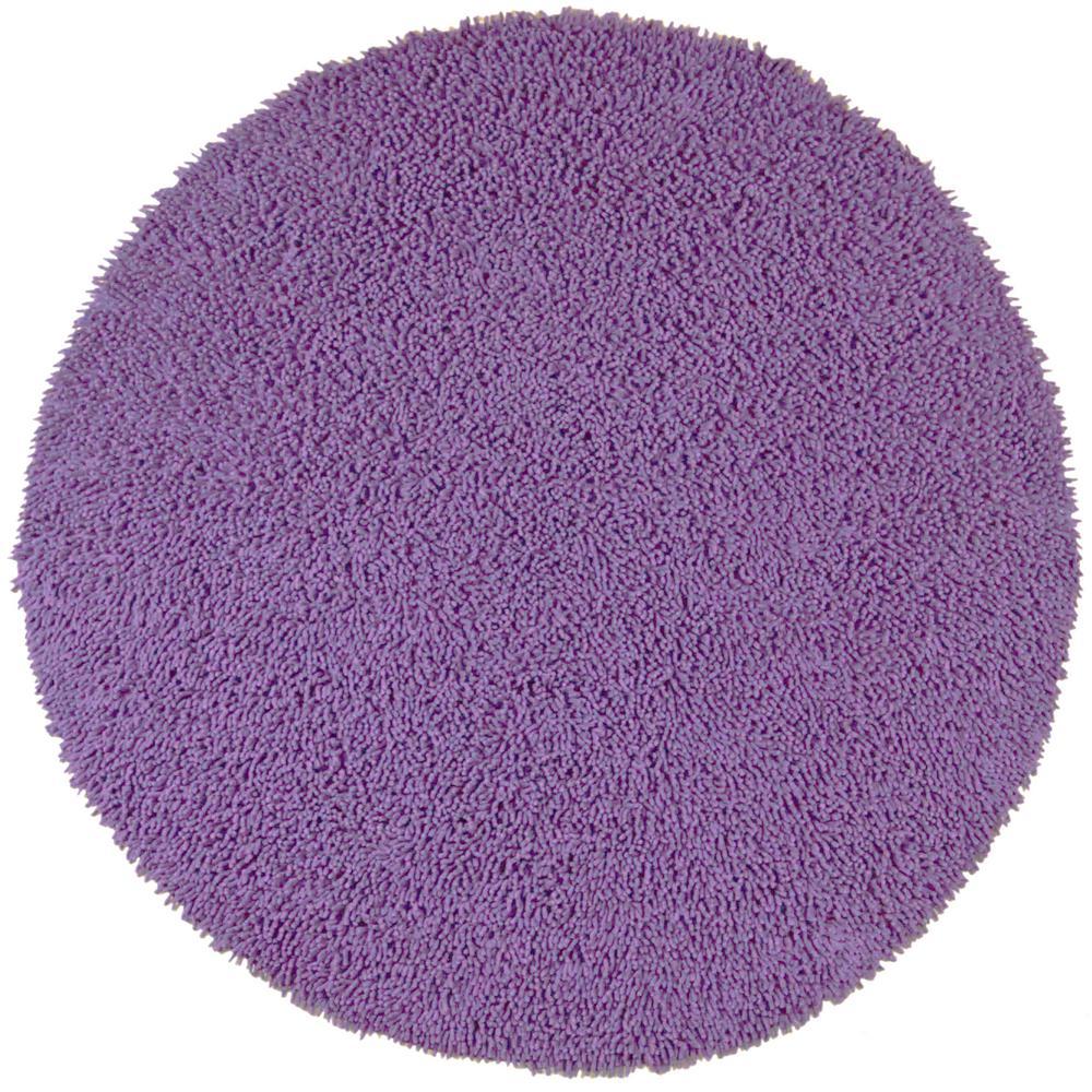 Purple Chenille Twist 5 Ft X Round Area Rug