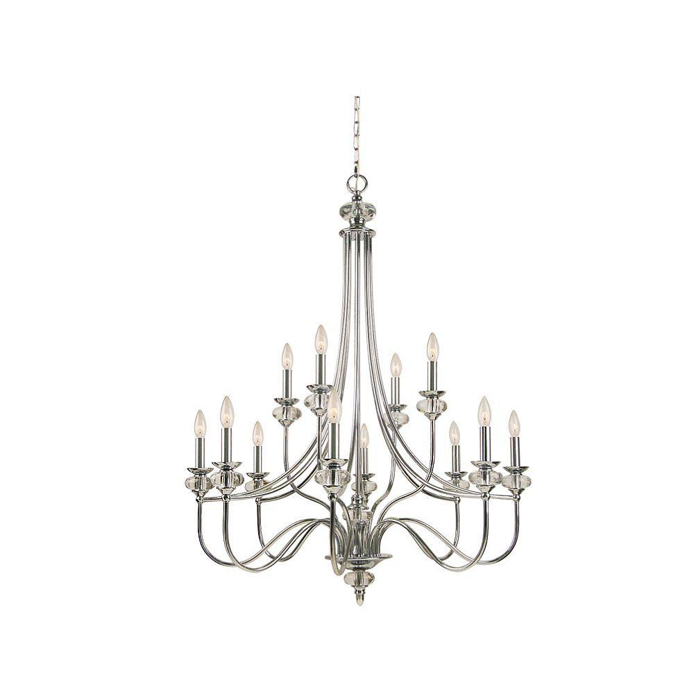 Hampton Bay Nottinghill Collection 12-Light Chrome Chandelier