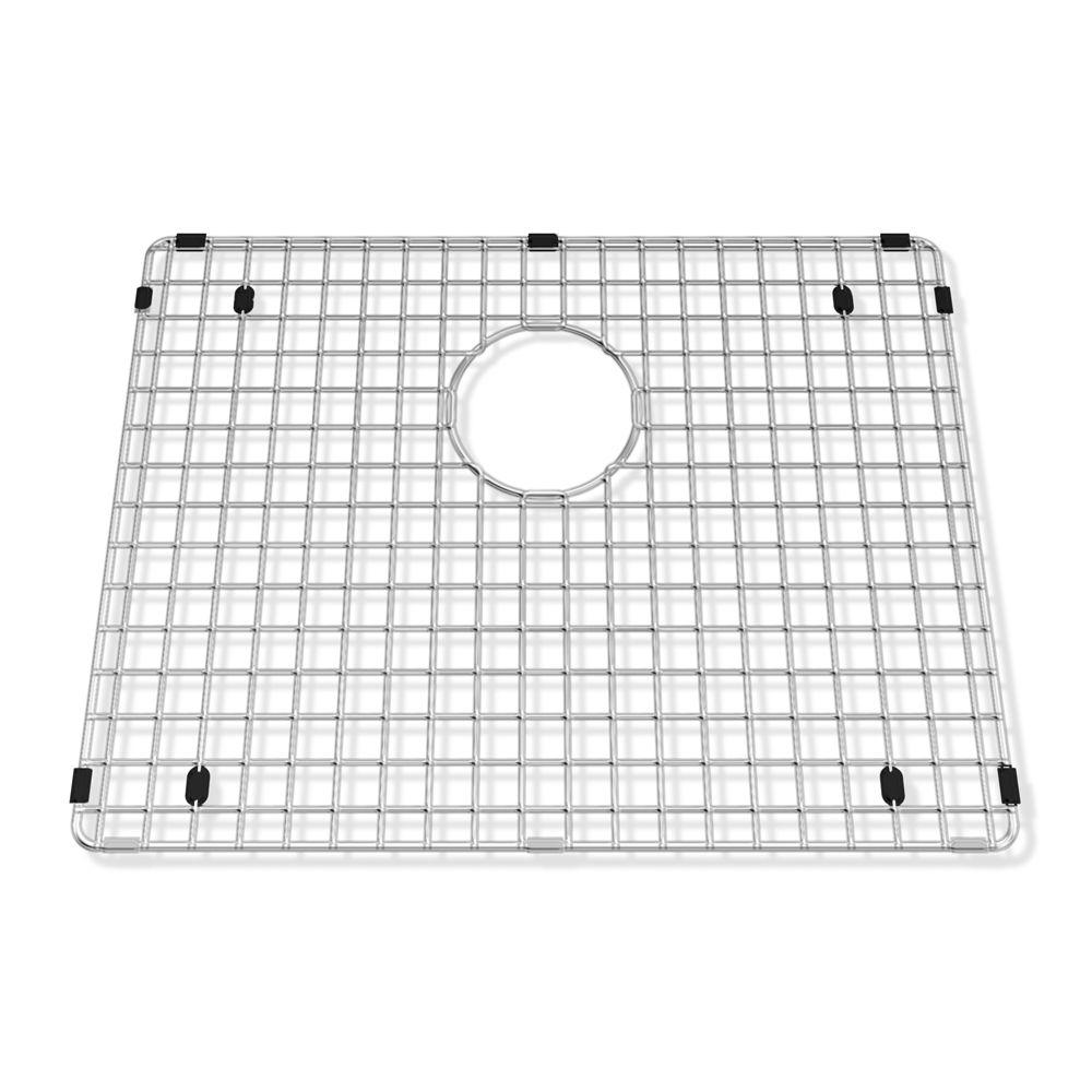 how to clean stainless steel sink grid