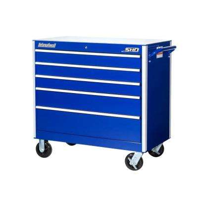 SHD Series 42 in. 5-Drawer Cabinet, Blue