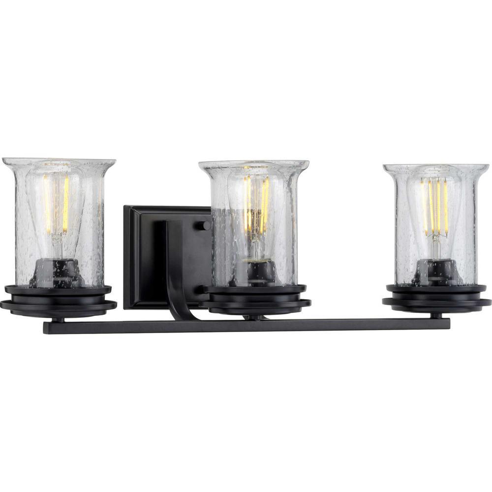 Winslett 3-Light Black Bath Light