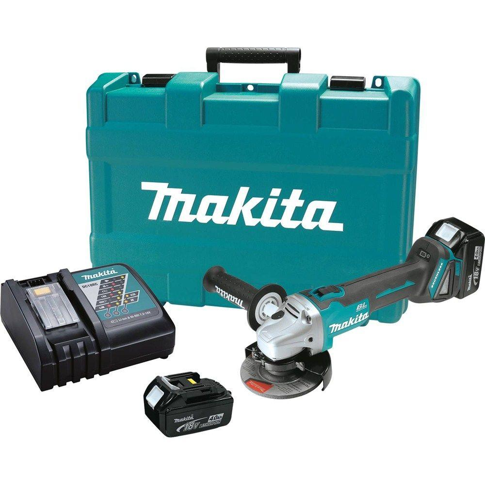 makita 18 volt lxt lithium ion 4 1 2 in cordless cut off. Black Bedroom Furniture Sets. Home Design Ideas